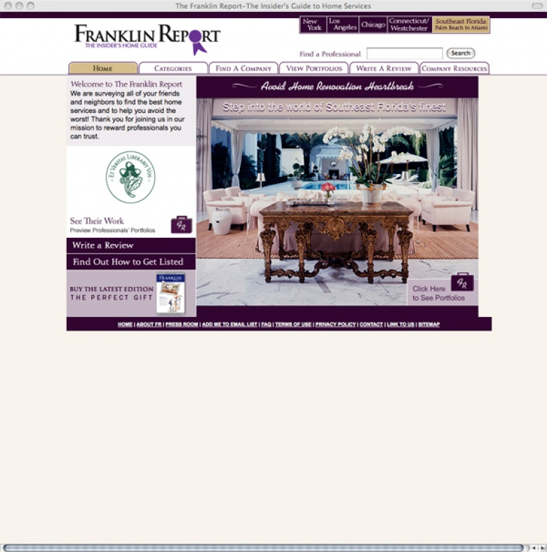 The Franklin Report Website